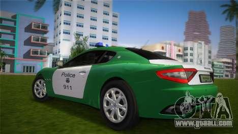 Maserati Granturismo Police for GTA Vice City left view