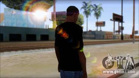 E Logo T-Shirt for GTA San Andreas second screenshot