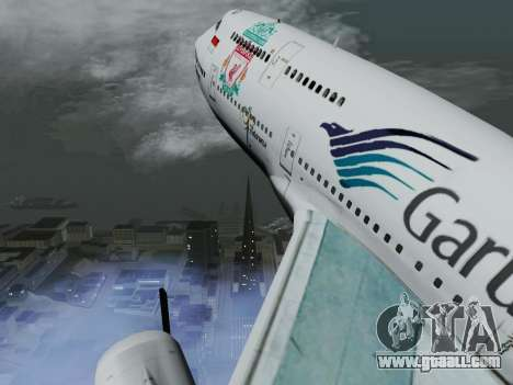 Boeing 747-400 Garuda Indonesia for GTA San Andreas inner view
