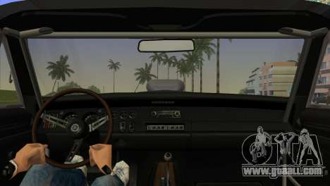 Dodge Charger RT Street Drag 1969 for GTA Vice City back left view
