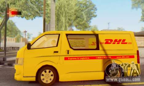 Toyota Hiace DHL Cargo Van 2006 for GTA San Andreas left view