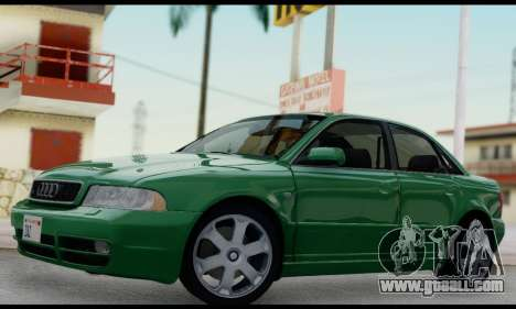 Audi S4 2000 for GTA San Andreas inner view