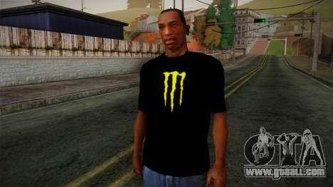 Monster Ripper Shirt Black for GTA San Andreas