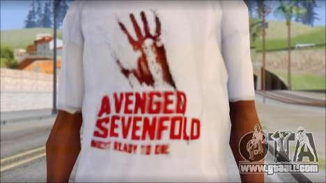 A7X Not Ready To Die Fan T-Shirt for GTA San Andreas third screenshot