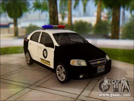 Chevrolet Aveo Police for GTA San Andreas