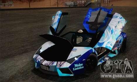 Lamborghini Reventon Black Heart Edition for GTA San Andreas side view