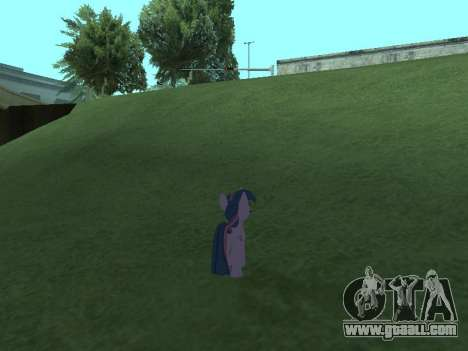 Twilight Sparkle for GTA San Andreas seventh screenshot