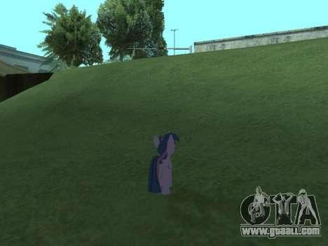 Twilight Sparkle for GTA San Andreas seventh screenshot