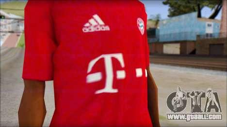 Bayern Munich 2013 T-Shirt for GTA San Andreas third screenshot