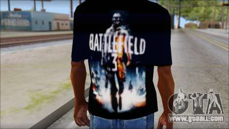 Battlefield 3 Fan Shirt for GTA San Andreas third screenshot