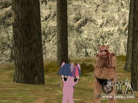 Twilight Sparkle for GTA San Andreas second screenshot