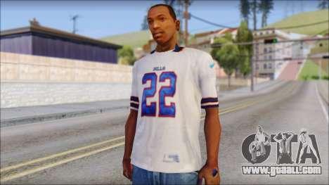 NY Buffalo Bills White for GTA San Andreas