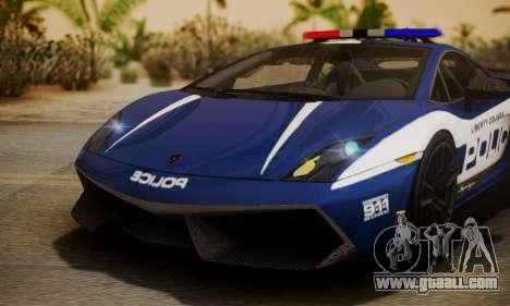 Lamborghini Gallardo LP570-4 2011 Police for GTA San Andreas inner view