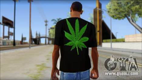 Bob Marley T-Shirt for GTA San Andreas second screenshot