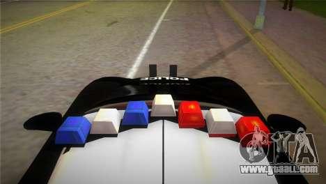 Porsche Carrera GT Police for GTA Vice City back left view