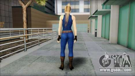 Sarah from Dead or Alive 5 v2 for GTA San Andreas second screenshot