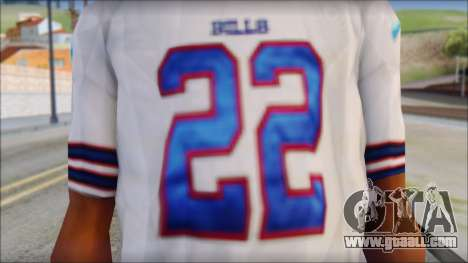 NY Buffalo Bills White for GTA San Andreas third screenshot