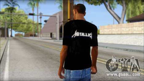 Metallica T-Shirt for GTA San Andreas second screenshot