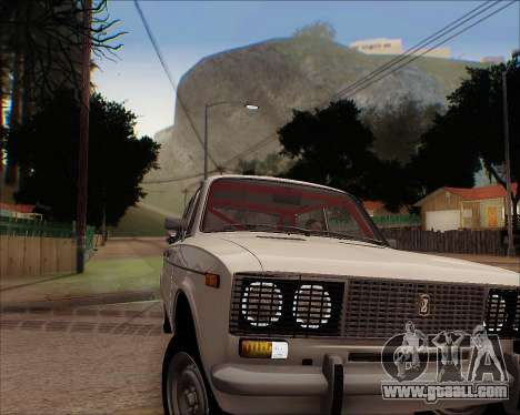 VAZ 2106 Tuneable for GTA San Andreas back view