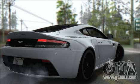 Aston Martin V12 Vantage S 2013 for GTA San Andreas back view