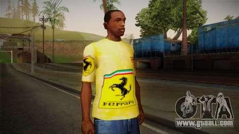 Ferrari T-Shirt for GTA San Andreas