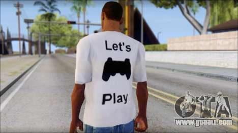 Lets Play T-Shirt for GTA San Andreas second screenshot