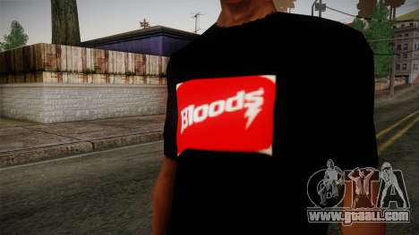 Bloods T-Shirt for GTA San Andreas third screenshot