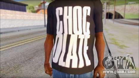 Chocolate T-Shirt for GTA San Andreas third screenshot