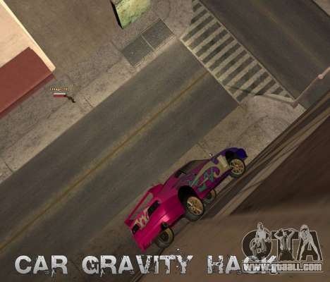 Car Grav Hack for GTA San Andreas second screenshot