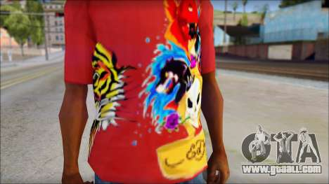 Ed Hardy Designer T-Shirt for GTA San Andreas third screenshot