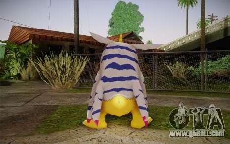Gabumon for GTA San Andreas second screenshot