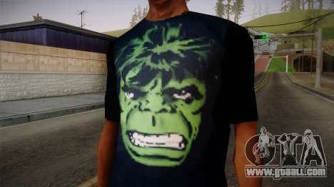 HULK T-Shirt for GTA San Andreas third screenshot