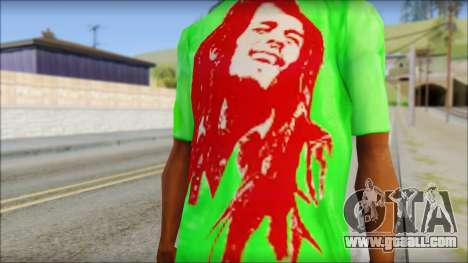 Bob Marley Jamaica T-Shirt for GTA San Andreas third screenshot
