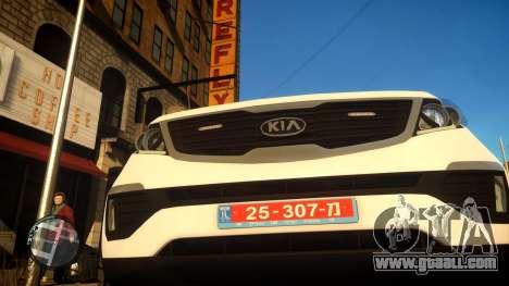 Kia Sportage Israel Police car (Mishtara) for GTA 4 back view