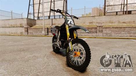 Yamaha YZF-450 v1.12 for GTA 4
