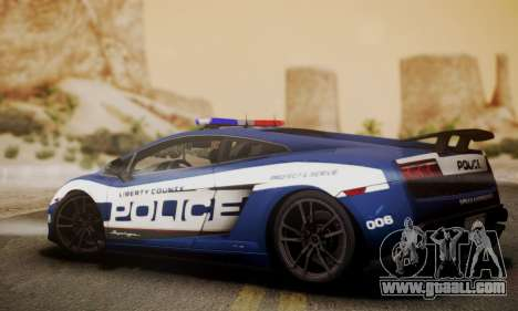 Lamborghini Gallardo LP570-4 2011 Police for GTA San Andreas left view
