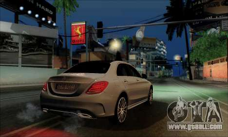 Mercedes-Benz C250 2014 V1.0 EU Plate for GTA San Andreas back left view
