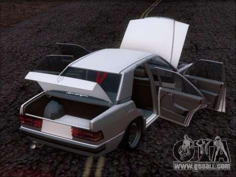 Mercedes Benz 190E Drift V8 for GTA San Andreas interior