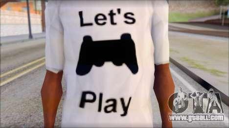 Lets Play T-Shirt for GTA San Andreas third screenshot