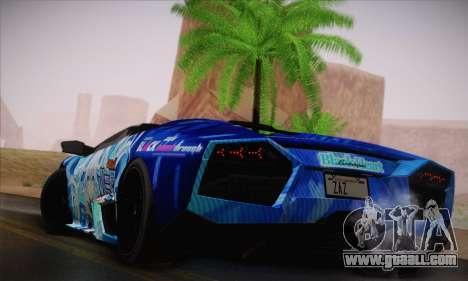 Lamborghini Reventon Black Heart Edition for GTA San Andreas right view