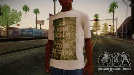 Keep Calm and Love Shirt for GTA San Andreas