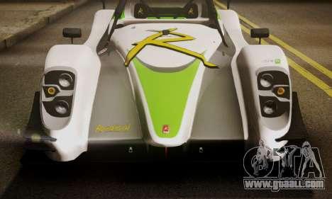 Radical SR8 Supersport 2010 for GTA San Andreas back view