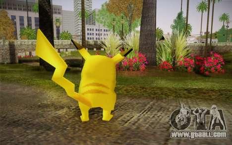 Pikachu for GTA San Andreas second screenshot