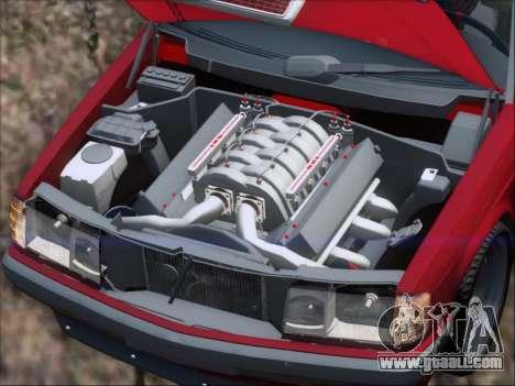 Mercedes Benz 190E Drift V8 for GTA San Andreas engine