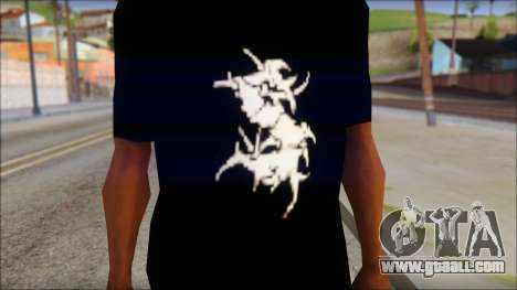 Sepultura Logo T-Shirt for GTA San Andreas third screenshot
