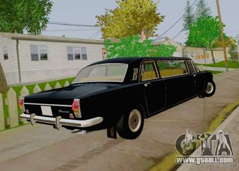 GAS 24-01 Limousine for GTA San Andreas back left view