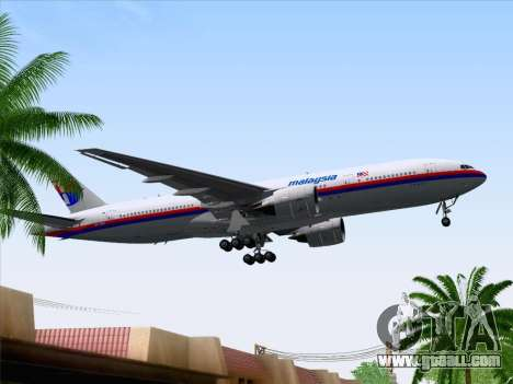 Boeing 777-2H6ER Malaysia Airlines for GTA San Andreas side view