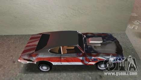 Oldsmobile 442 1970 v2.0 for GTA Vice City back left view