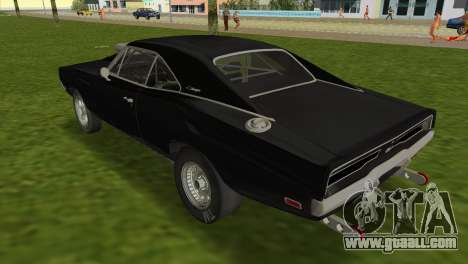 Dodge Charger RT Street Drag 1969 for GTA Vice City left view