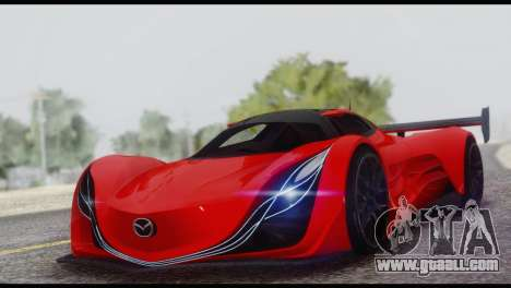Mazda Furai 2008 for GTA San Andreas bottom view